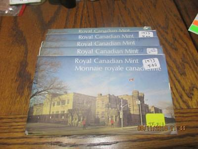 Pickers Delight Lot of 5/Five Canada 1973 6 Coin Uncirculated Mint Sets. #TF-812