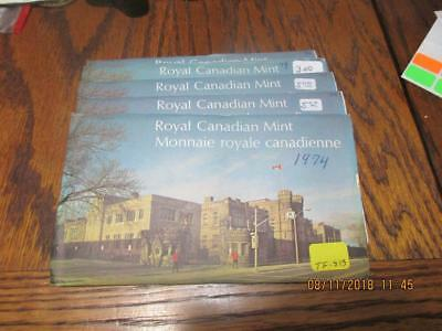 Pickers Delight Lot of 5/Five Canada 1974 6 Coin Uncirculated Mint Sets. #TF-813
