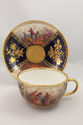 Late 19Th Century Meissen Cup & Saucer