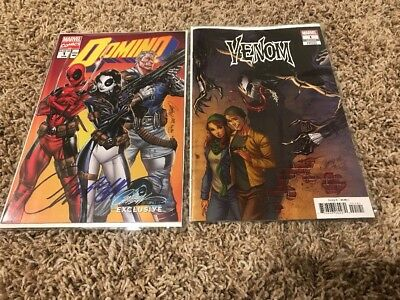 Domino And Venom Issue 1 J. Scott Campbell 2018 (Domino Signed)