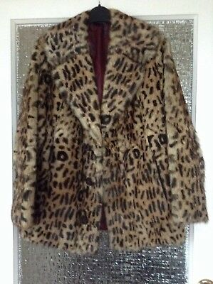 Vintage Real Fur Coat (Ocelot) Size 12/14