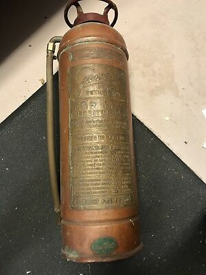 Antique Copper Fire Extinguisher New York guardene