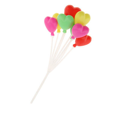 Dollhouse Miniature 1:12 Scale Colorful Heart Shaped Balloons Home Decor