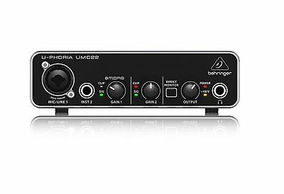 BEHRINGER USB audio interface microphone preamplifier UMC22 w/ Tracking NEW