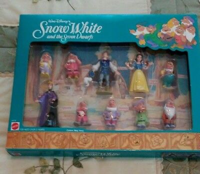 Snow White and the Seven Dwarfs Figurine Set , Ten Pieces, New in Box, Mattel