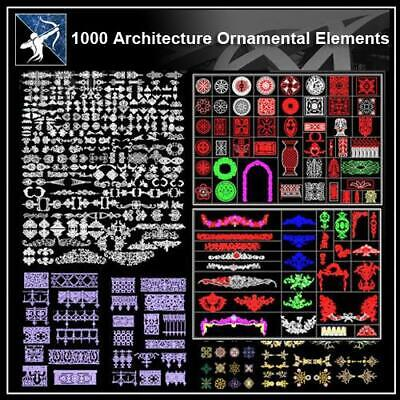 Over 1000+ Architecture Ornamental Elements CAD Blocks
