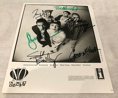 No Doubt Early 8x10 Promo Photo Signed Gwen Stefani Autographed Ska 90s