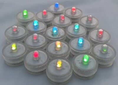 Job Lot - 19 LED Colour Changing Tea Lights with batteries ONLY 75p each