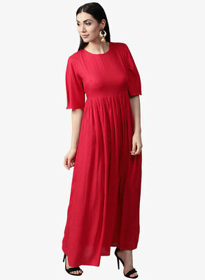 Women Long Dress Pure Cotton Material Work and Casual Wear dress Tops.