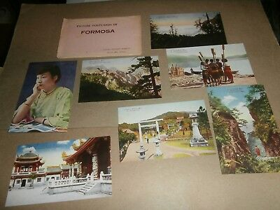 7 Vintage Picture Postcards Japan Tourist Bureau Taipeh Branch Office  Formosa