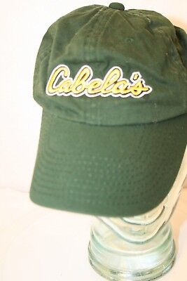 5efd9a0ef CABELA'S DARK GREEN Yellow Embroidered Strapback Hunter Trucker Dad Cap Hat