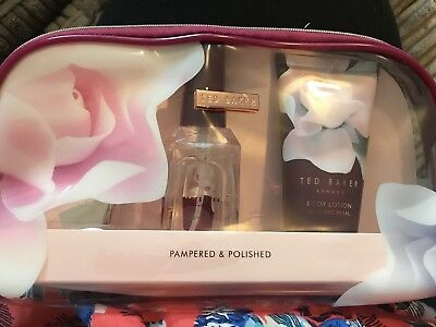 Ted Baker Pampered And Polished Gift Set Sealed- Travel Sized