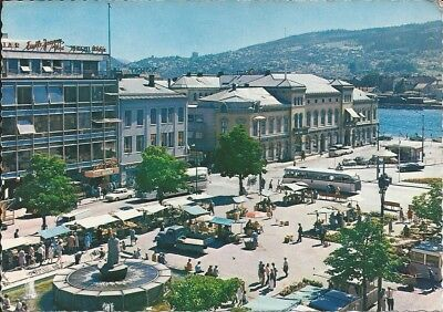 Norway Drammen colour postcard  posted from Oslo 1972