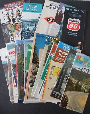 Lot of 30 Vintage New Mexico Road Maps & Brochures