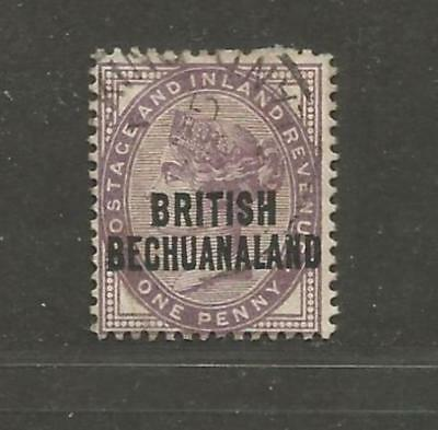 British Bechuanaland 1891 Queen Victoria One Penny lilac I - see scan
