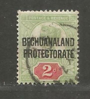 British Bechuanaland 1897 Queen Victoria 2d grey-green carmine used -  see scan