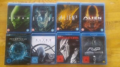 ALIEN, alle 9 Filme, Anthology etc... BluRay, UNCUT, deutsch, neuwertig