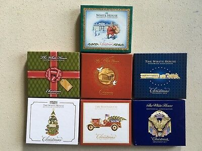 14 Never Used White House Historical Assoc. Official Christmas Ornaments!