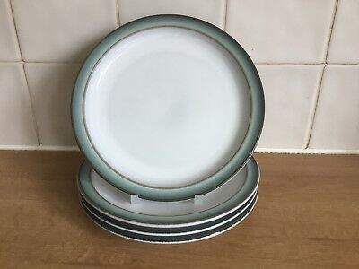 Denby Regency Green 4 x 17 cm Side / Tea Plates