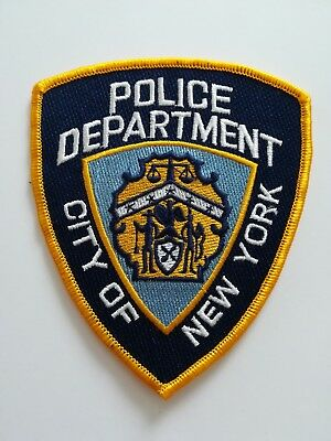 Abzeichen Ärmelabzeichen Patch NYPD Police Department City of New York Polizei