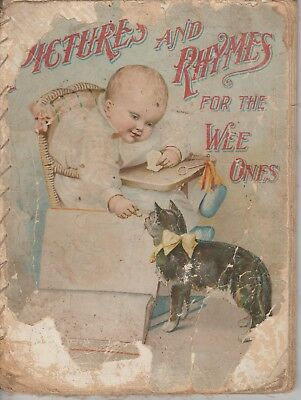 Antique baby book (late 19th century). Item is about 120 years old.