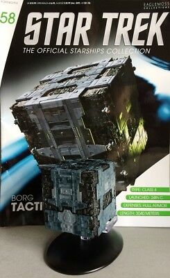 STAR TREK Official Starships Magazine #58 Borg Tactical Cube Eaglemoss engl. NEU