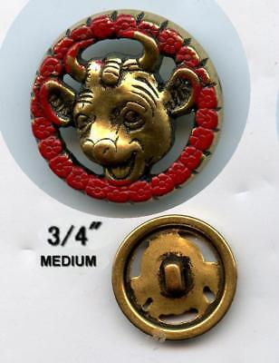 Electroplate & Paint Borden's Ad Elsie The Cow Pierced Plastic Sewing Button