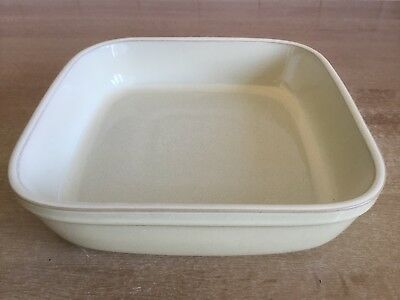 Denby Fire Chilli 23 cm Cream Square Roasting / Serving Dish