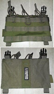 RPC Removable Triple MOLLE Open Pouch Panel - OD Green Warrior Assault Systems