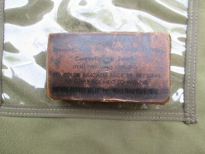 WWII WW2 US Army first aid carlisle bandage  m1923  m1942 military