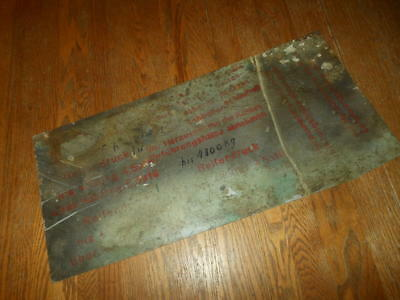 WW2 German Luftwaffe Aircraft Assembly Skin -  STENCILS & MARKINGS - RARE!