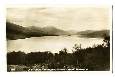 Vintage RP postcard Loch Carron from above Strome Ferry, Ross-Shire, Scotland