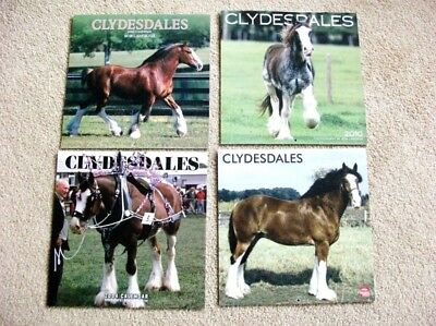 Clydesdale Horse Calendars - Lot Of 4 - 2003, 2004, 2010, 2011