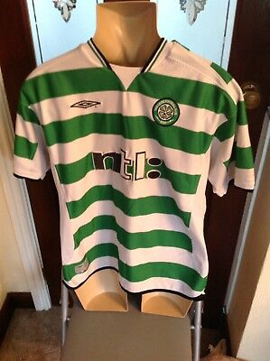 Celtic Home Football Shirt 2001/2003 Adults Extra Large
