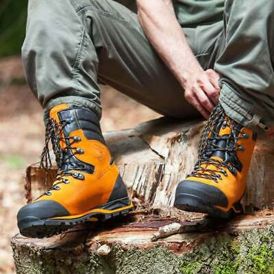 Haix Protector Forest Class 2 Protection Chainsaw Boots in Orange All Sizes 5-13