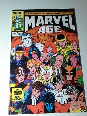 The Official Marvel News Magazine Marvel Age #32 Nov 1985 X-Men & Alpha Flight