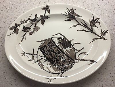 George Jones England Pottery Choco & Sons Transferware Large Oval Platter