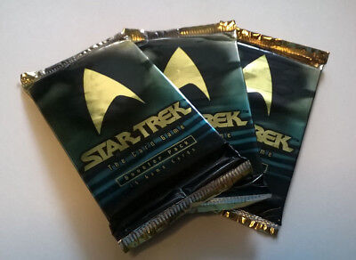 3 x STAR TREK The Card Game SEALED Booster Packs 3 x 15 Cards Lot 5
