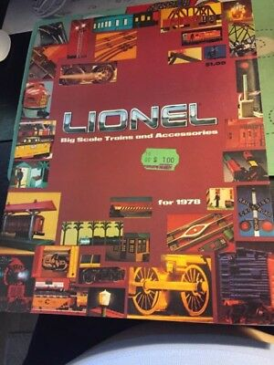 1978 LIONEL Trains Catalog (23 Pages) NEW CONDITION