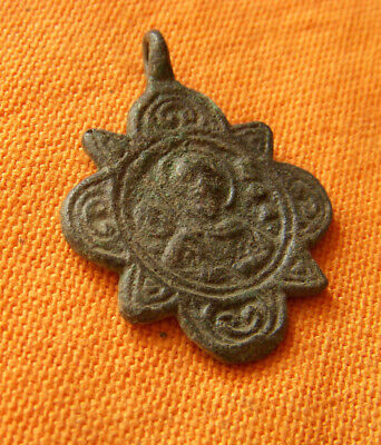 A168.Byzantine bronze doublesided cross