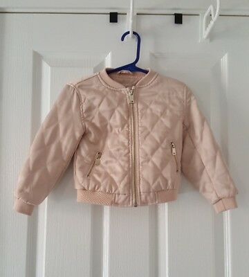 River Island mini baby girls pink bomber jacket age 18 months -24 months