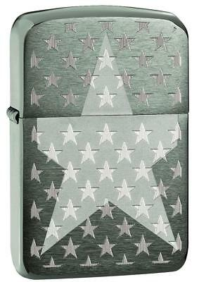 Zippo Windproof 1941 Black Ice Lighter With Military Stars, 29680, New In Box