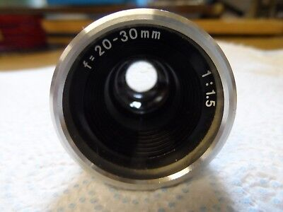 Cine Projector Lens F=20-30mm 1:1.5 Zoom Made in Japan