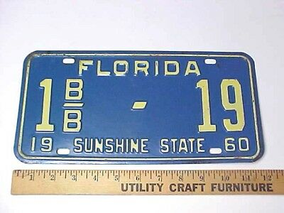 1960 Florida License Plate - Dade County Light Private Trailer