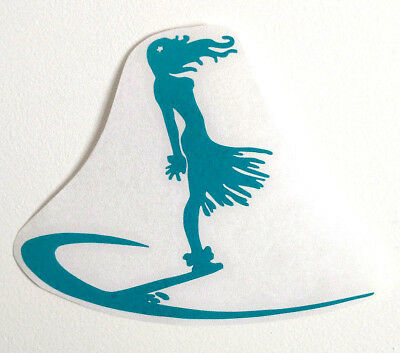 SURFING decal surf body paddle BOARD fins STICKER shortboard surfboard girl
