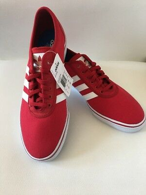new product d28f8 f2687 Adidas Mens Adi-Ease RedWhite Skateboard Shoes Size 12.5