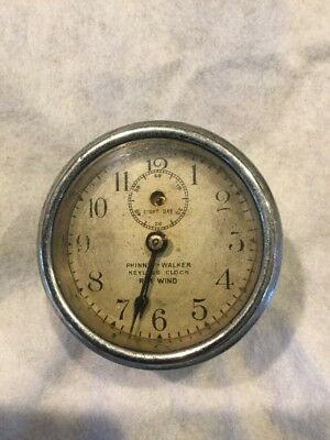 Antique Phinney-Walker Eight Day Keyless Clock Rim Wind, Working