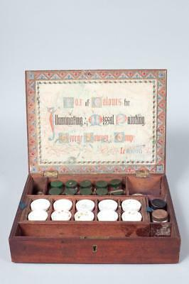 "Vintage c1880~""George Rowney & Compy"" ""Illuminating & Missal"" Colours Paint Box"
