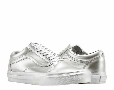 Vans Old Skool Metallic Sidewall Silver Classic Low Top Sneakers VN0A38G1QTV e8b6d8d1e