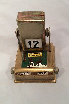 Vintage Redwood Highway California Souvenir Perpetual Calendar